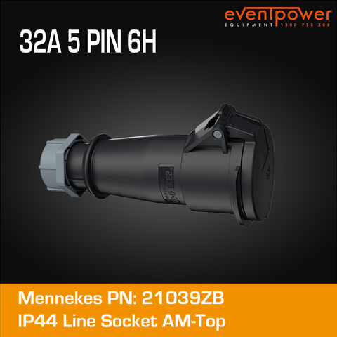 Mennekes IP44 Line Socket - 32A 5 PIN