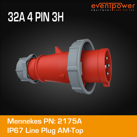 Mennekes IP67 Plug AM-TOP - 32A 4 PIN