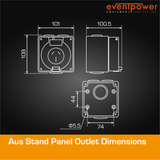 Aus Stand Panel Outlet 15A 3 Flat PIN