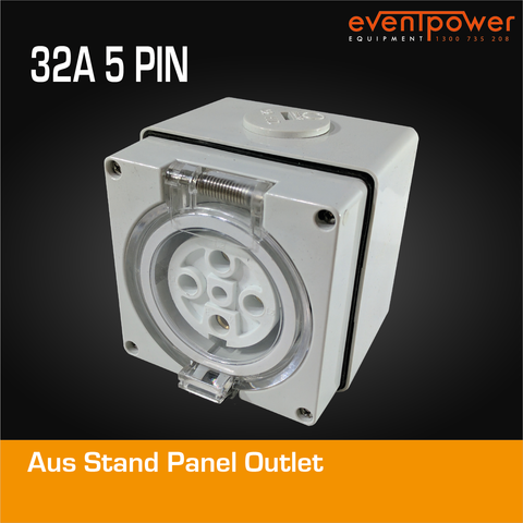 Aus Stand Panel Outlet 32A 5 PIN