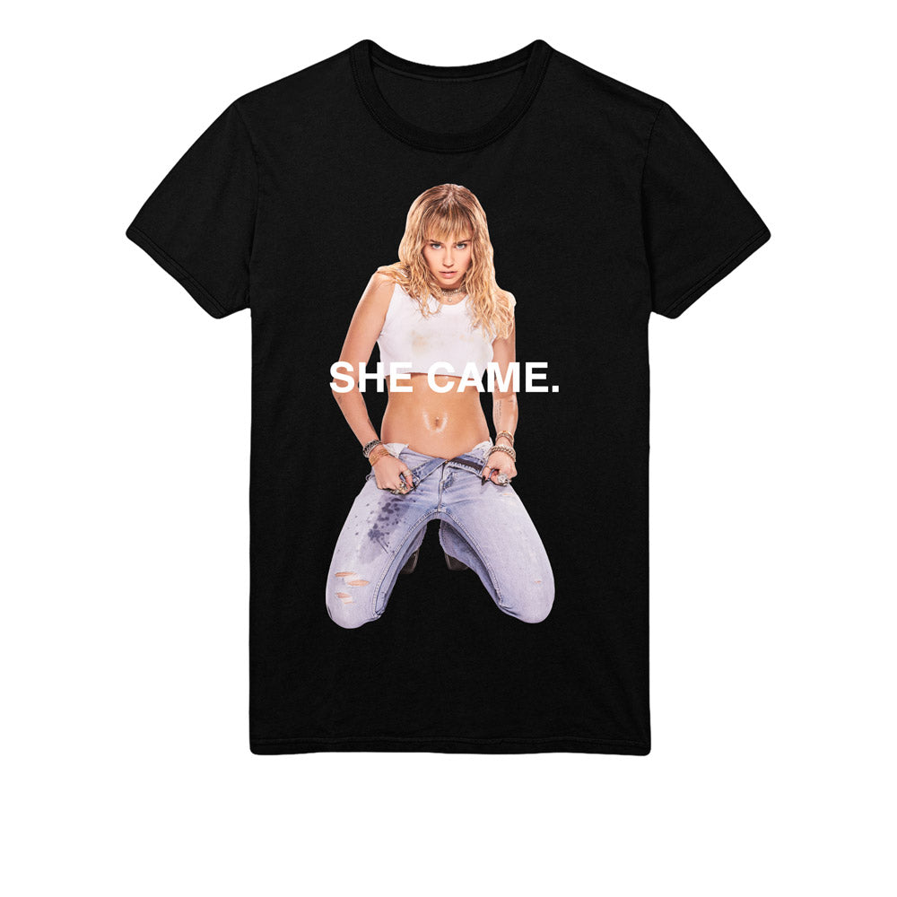 She Came Black Short Sleeve Tee-MILEY CYRUS