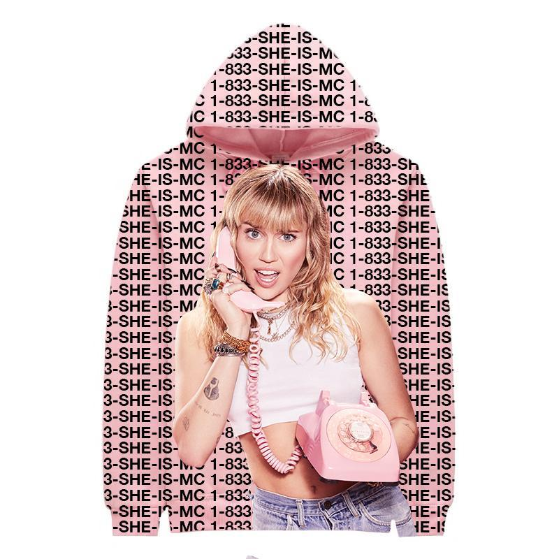 1-833 Miley Photo Hoodie PINK-MILEY CYRUS