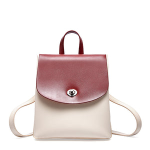Contrast Color Pícow Leather Backpack