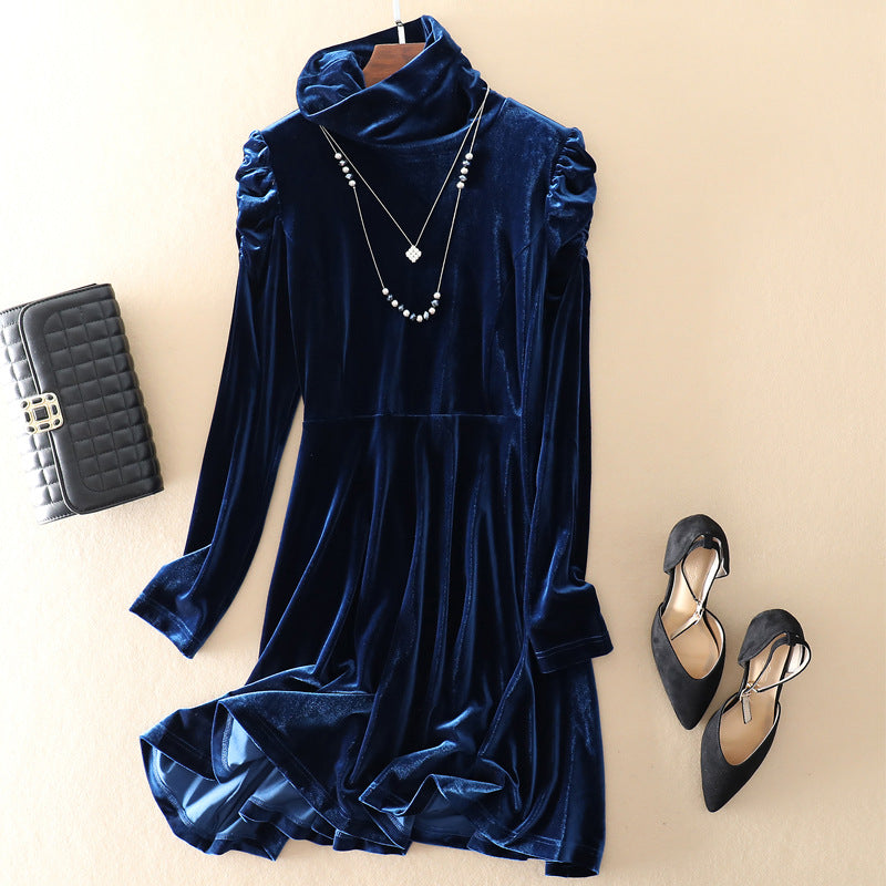 Velvet Long Sleeve Base Dress