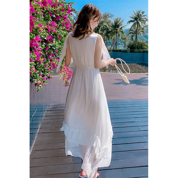 Beach Mulberry Silk Dress