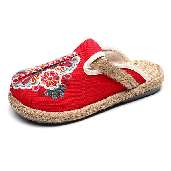 Hand-woven Canvas Embroidered Shoes