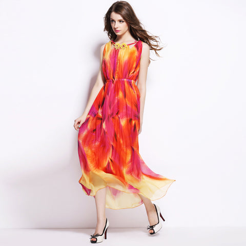 Mulberry Silk Beach Maxi Dress