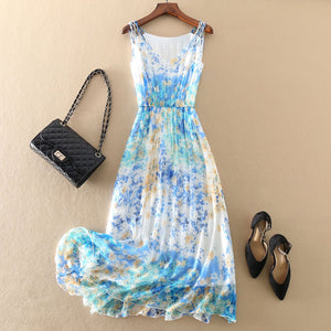 Mulberry Silk Floral Maxi Dress