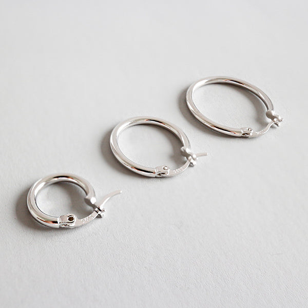 Sterling Silver Hollow Circle Earring