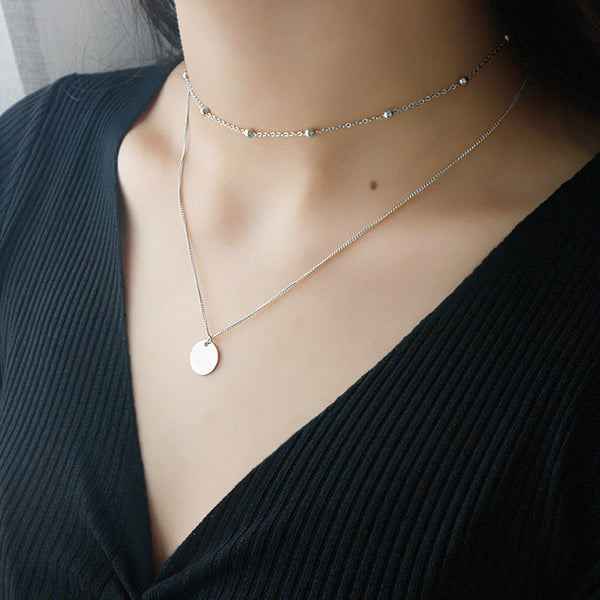 S925 Sterling Silver Clavicle Necklace