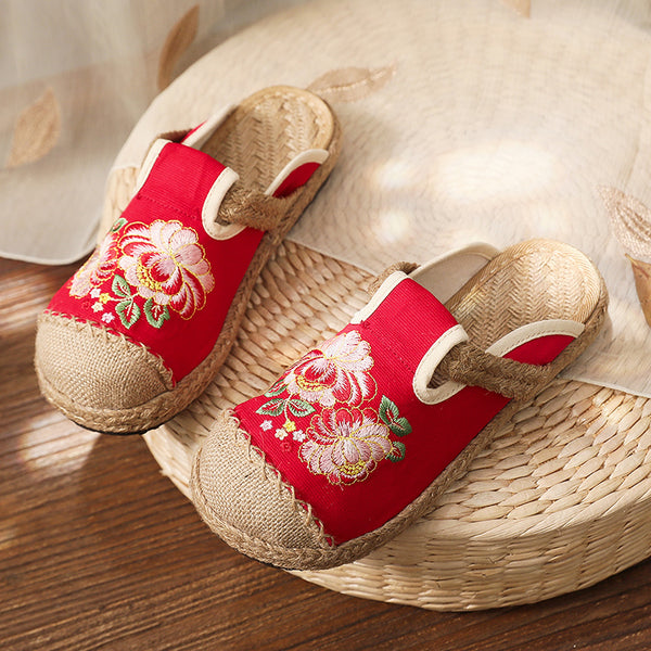Casual Embroidered Slippers