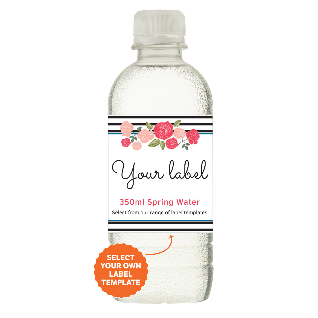 350ml Spring Water White Cap