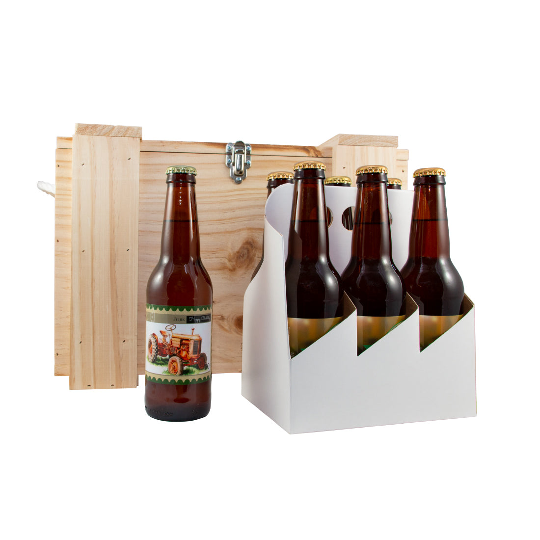 Craft Lager - Wooden Beer Box - 330ml - Carton of 24