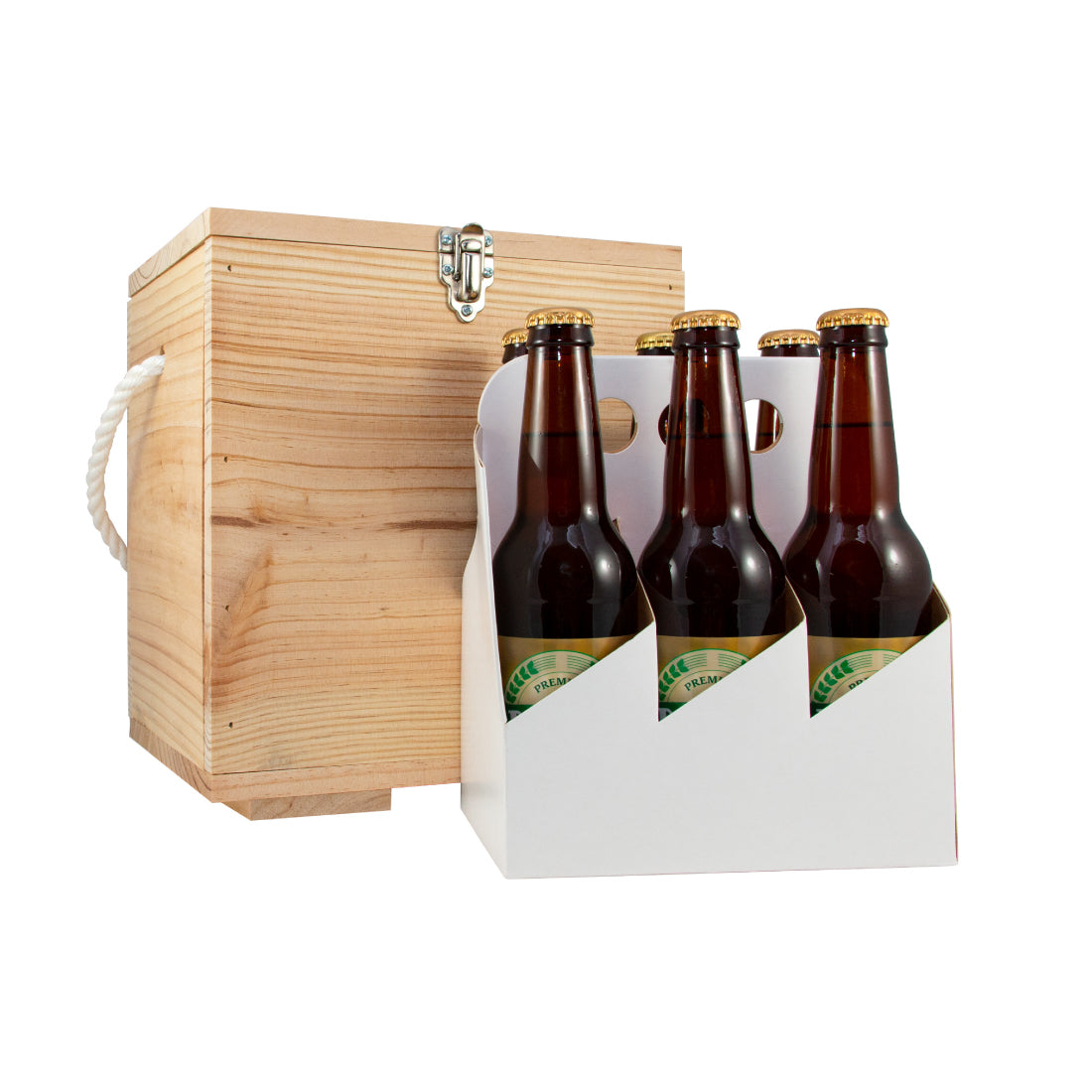 Craft Lager 4.0% - Wooden Beer Box - 6 pack