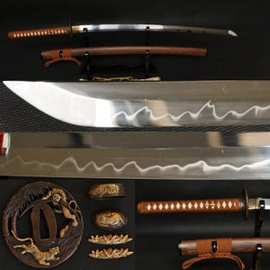 "41"" Japanese Samurai Tiger Sword Katana Clay Tempered Full Tang Blade"