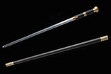 Chinese Cane Sword Folded Steel Fully Handmade Ebony Sheath Handmade Forged