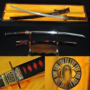 Japanese Samurai Sword Sakabato (reverse-edged Sword) Clay Tempered Sharp Blade