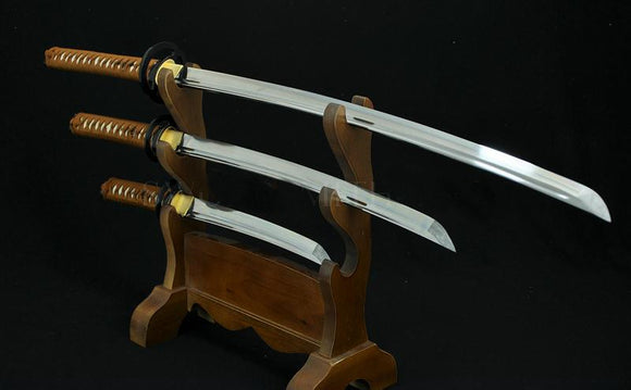 High Quality Hand Forged Japanese Samurai Sword Set ( Katana + Wakizashi +tanto)