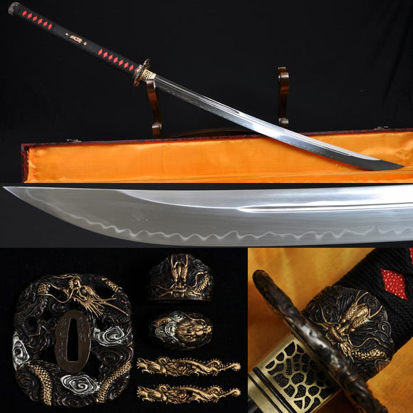 Handmade Authentic Japanese Samurai Sword Naginata With Clay Tempered Blade