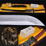 Classical Clay Tempered Folded Steel Japanese Samurai Sword Katana