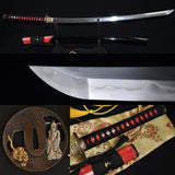 Clay Tempered Folded Steel Blade Ray Skin Saya Japanese Samurai Sword Katana