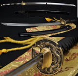 "41"" Japanese Samurai Dragon Sword Katana Folded Steel Sharpened Blade"