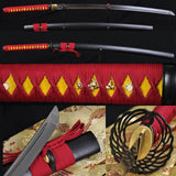 "41"" HANDMADE Japanese Samurai Sword KATANA Folded Steel FULLTANG BLADE VERY SHARP"