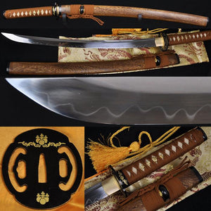 "31"" Wakizashi Sword Clay Tempered Unokubi-zukuri Blade Sharp"