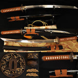 Clay Tempered Full Tang Blade Japanese Samurai Wakizashi Sword