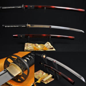 1060 High Carbon Steel Full Tang Blade Japanese Samurai Battle Ready Sword Katana