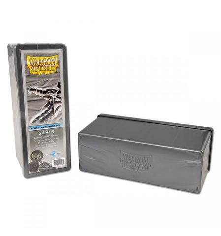 Dragon Shield Storage Box w. 4 compartments - Silver