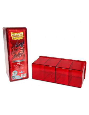 Dragon Shield Storage Box w. 4 Compartments - Red