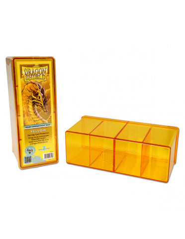 Dragon Shield Storage Box w. 4 compartments - Yellow
