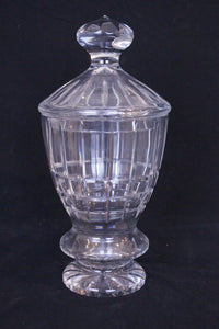 Georgian style cut crystal lidded urn, possibly Baccarat