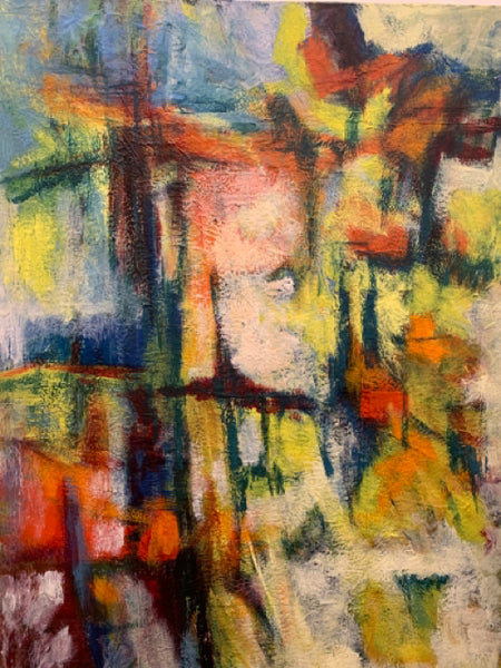 "This is an authentic circa 1960s U.S. Abstract Expressionism, from the estate of the artist and signed on rear ""K. Forman"".  It is Encaustic on Masonite, in good condition, and 48"" x 36""."