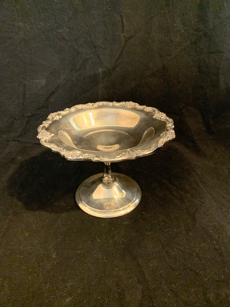 Reed & Barton Tara Hall Pattern Silver Plate Candy Dish on a Pedestal