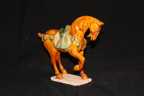 20th century reproduction of Tang Dynasty chinese pottery horse