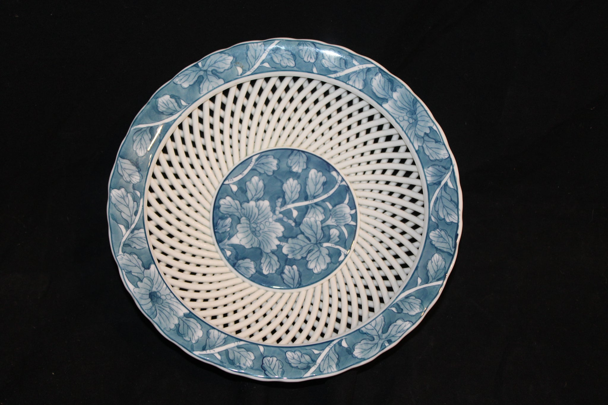 20th century chinese reproduction lattice porcelain bowl