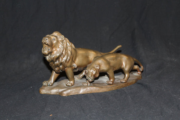 Bronze Double Lion 20th Century classical reproduction