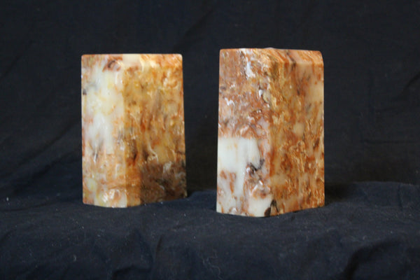 Pair of mid 20th Century Modern Cultured Marble Bookends