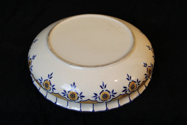 "authentic 1930's art deco bowl, possibly English. It is in good condition with 16"" diameter and 4.5"" height"