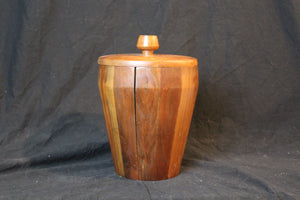American mid 20th century modern walnut ice bucket, circa 1960's