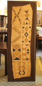 ethnic South Pacific tribal bark cloth with a geometric design