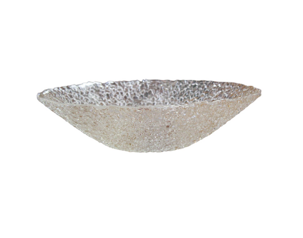 Textured Transparent Glass Bowl
