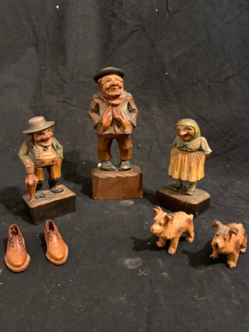 Collection of Anri Wood Carving Italian Folk Art