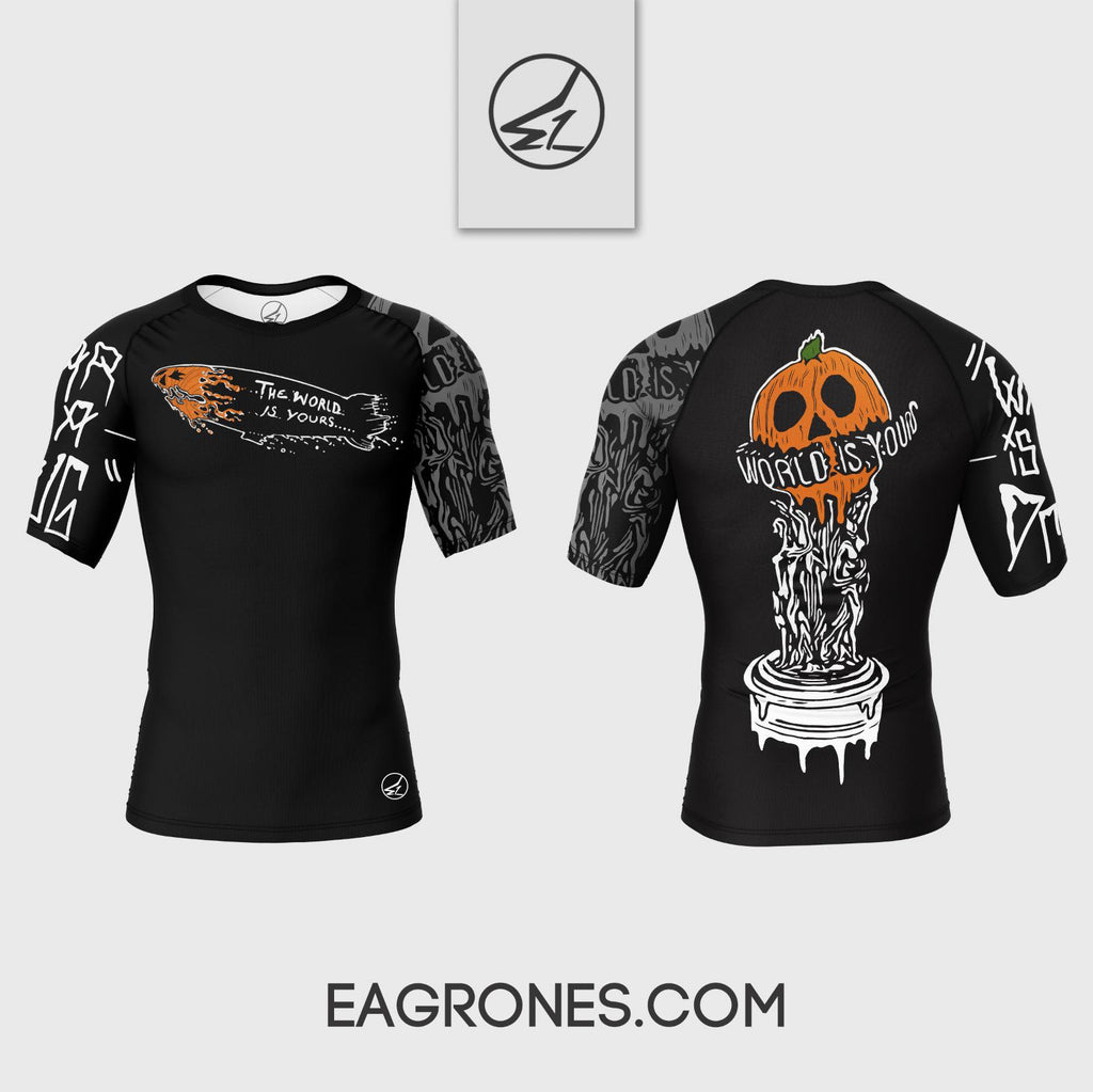 World Is Yours Short Sleeve Rash Guard