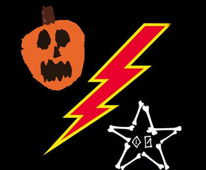 Pumpkin Bolt & Bones Shirt