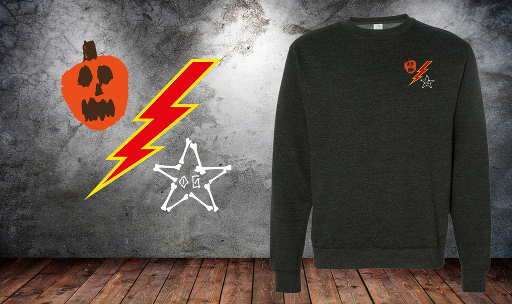 Pumpkin Bolt Bones DUI Sweater