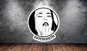 Spit Mouth Sticker