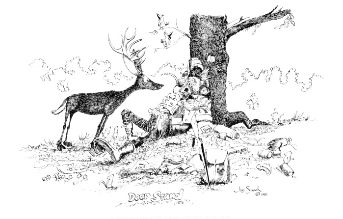 Deer Stand Print Jim Snook Studio